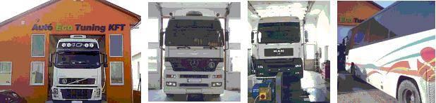 Kamion Teherautó Autóbusz Fogyasztás csökkentés