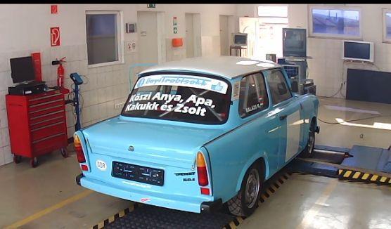 Trabant 601 Teljesítménymérés