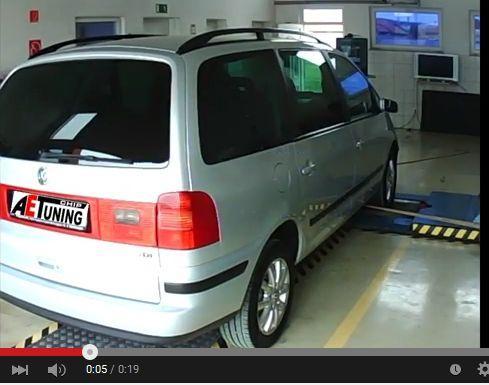VW Sharan 2.0TDI 140LE Chiptuning video