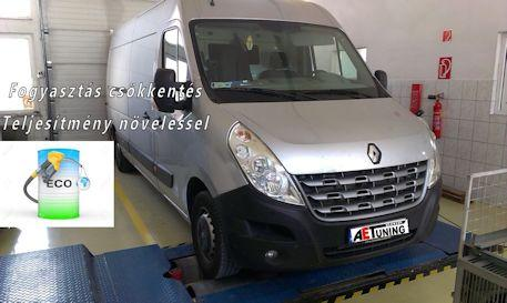 renault master 2.3 dci 150le chiptuning referencia - optimális