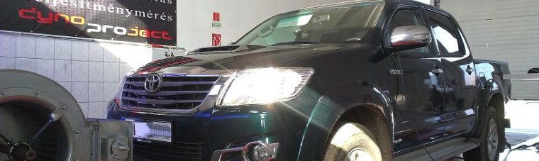 Toyota Hilux 3.0 D4D 172LE Automata AET CHIP tuning 4x4 DYNO teljesítménymérés