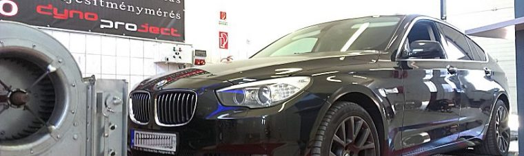 BMW F07 GT 535D Chiptuning optimalizálás fékpadon