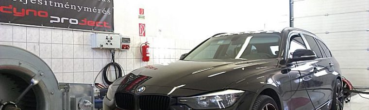 BMW F31 318D Chip tuning fékpadon optimalizálva