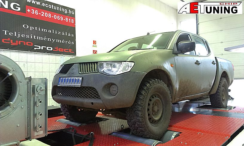 Mitsubishi L200 2.5DiD 136LE OPTimalizálása fékpadon