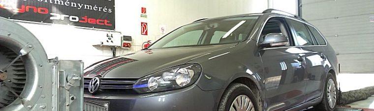 Volkswagen Golf 1.6TDI 105LE Optimalizálás teljesítményméréssel
