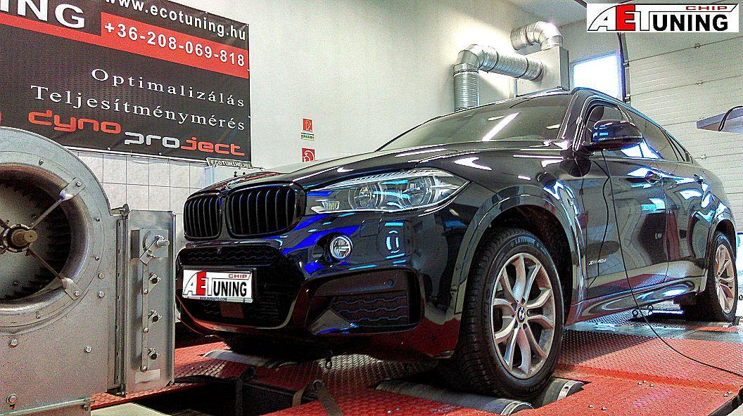 BMW F16 X6 4.0xD 313LE Chiptuning teljesítménymérés
