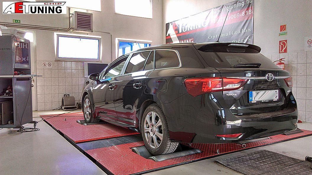Toyota Avensis 2.0D4D 143Le Optimalizálás fékpadon