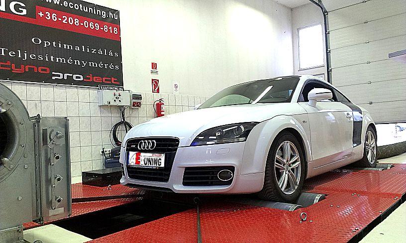 Audi TT 2.0CRTDI 170LE Optimalizálás 4x4 DYNO fékpadon