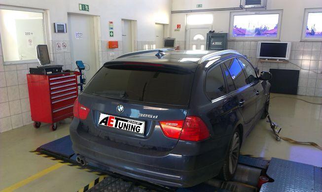 BMW 325D 204LE Chiptuning teljesítményméréssel