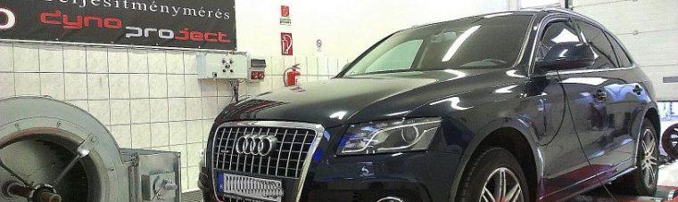 Audi Q5 2.0TDI 170LE AET CHIPtuning referencia 4x4 DYNO teljesítménymérés