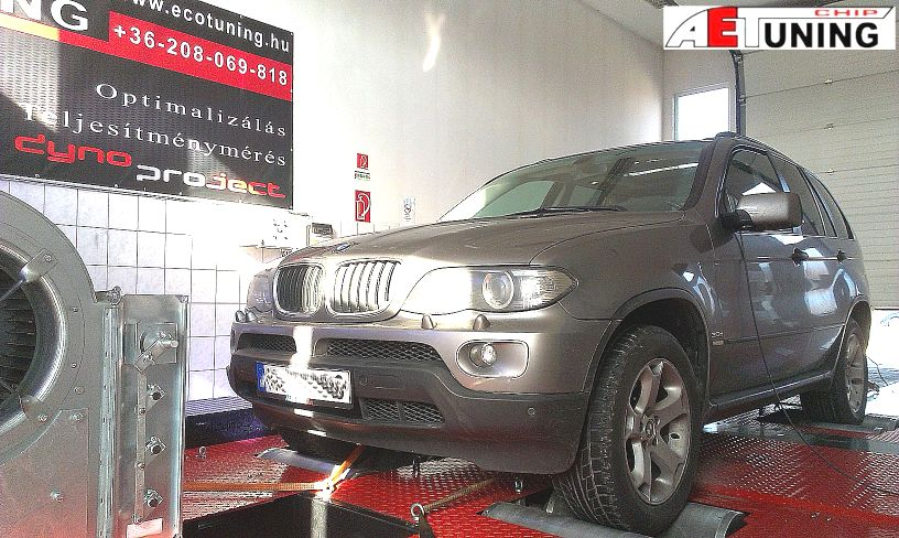 BMW X5 3.0D 218LE AET CHIP Tuning referencia 4x4 DYNO Teljesítménymérés