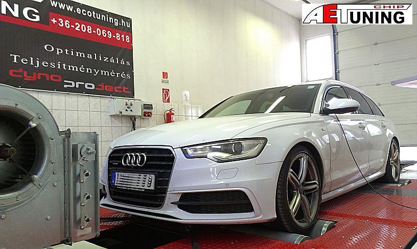 Audi A6 4G 3.0TDI 245LE Chip Tuning 4x4DYNO fékpadon