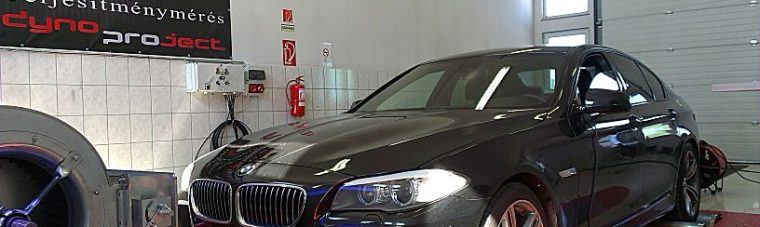 BMW F10 530xD Chiptuning Fékpadon Teljesítményméréssel