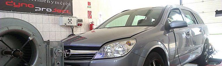 Opel Astra H 1.7CDTI 100LE Optimalizálása fékpadon teljesítmény méréssel