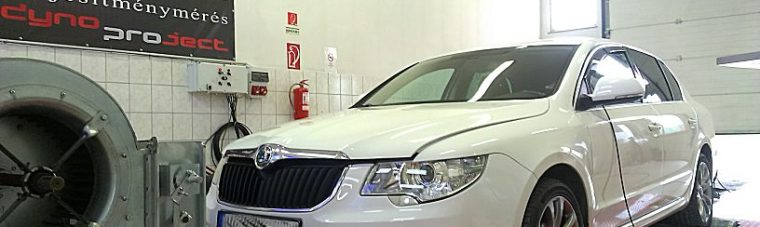 Skoda SuperB 2.0TDI 140LE Chip tuning OPTimalizálása fékpadon
