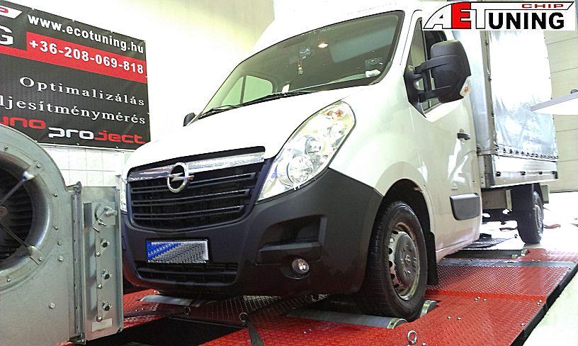 Opel Movano 2.3CDTI Fogyasztás csökkentés optimalizálással fékpadon